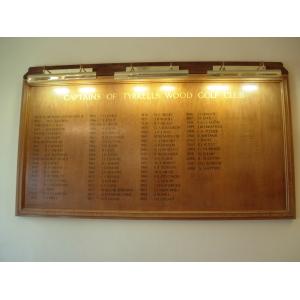 Honour Board with overhead illumination