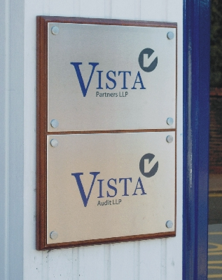 Vista Stainless Steel Nameplate